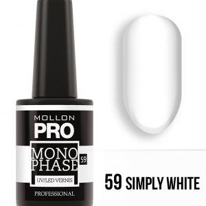 Monophase UV/LED Vernis 59 Simply White 10ml 10.2020.