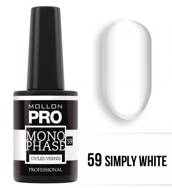 Monophase UV/LED Vernis 59 Simply White 10ml