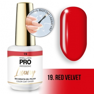 Luxury Gel Polish Color Coat 19 Red Velvet 8ml