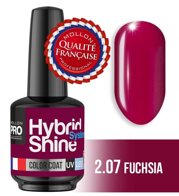 Hybrid Shine System Color Coat UV/LED 2/07 Fuchsia 8ml