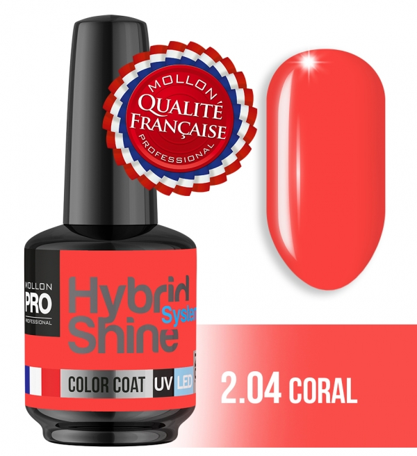 Hybrid Shine System Color Coat UV/LED 2/04 Coral 8ml