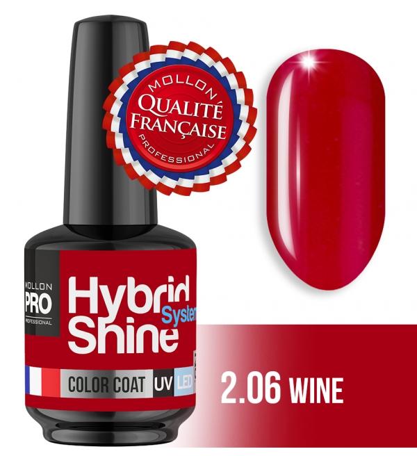 Hybrid Shine System Color Coat UV/LED 2/06 Wine 8ml