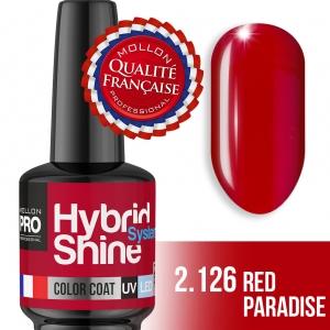 Hybrid Shine System Color Coat UV/LED 2/126 Red Paradise 8ml