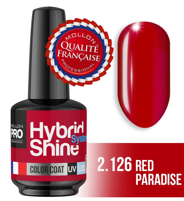 Hybrid Shine System Color Coat UV/LED 2/126 Red Paradise 8ml