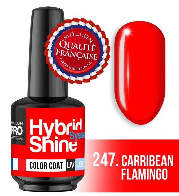 Hybrid Shine System Color Coat UV/LED 247 Carribean Flamingo 8ml