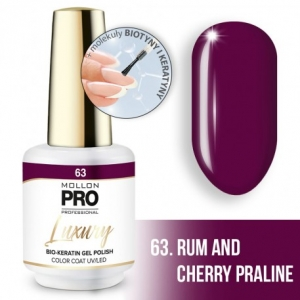 Luxury Gel Polish Color Coat 63 Rum and Cherry Praline 8ml