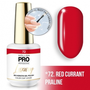 Luxury Gel Polish Color Coat 72 Red Currant Praline 8ml