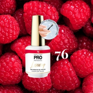Luxury Gel Polish Color Coat 76 Raspberry Sorbet 8ml