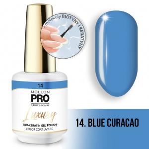 Luxury Gel Polish Color Coat 14 Blue Curacao 8ml
