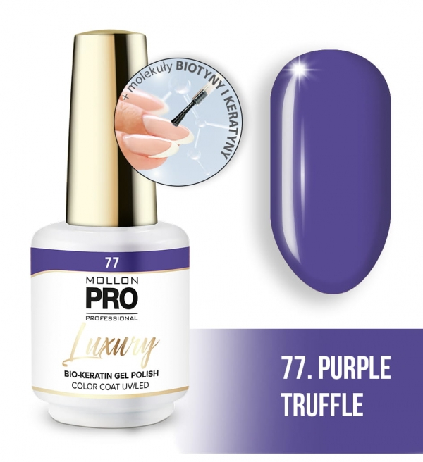 Luxury Gel Polish Color Coat 77 Purple Sorbet 8ml