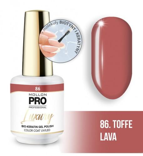 Luxury Gel Polish Color Coat 86 Toffee Lava 8ml