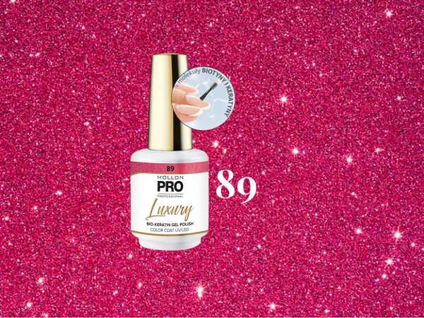 Luxury Gel Polish Color Coat 89 Pink Glaze 8ml