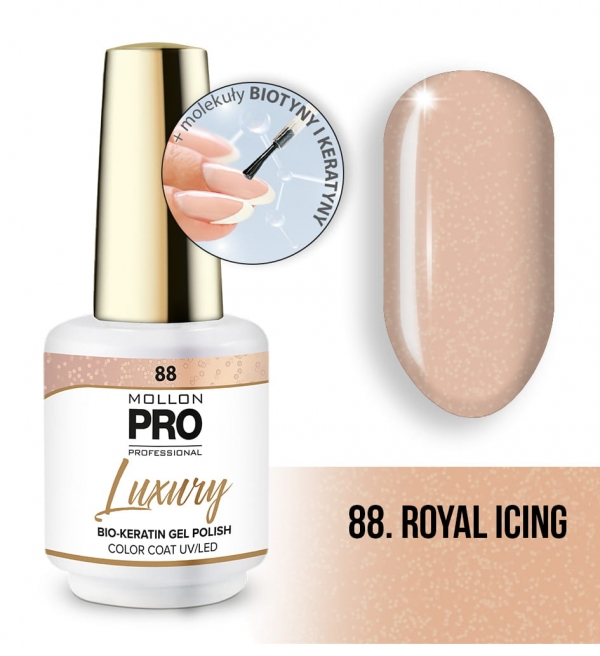 Luxury Gel Polish Color Coat 88 Royal Icing 8ml