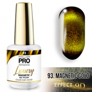 Luxury Gel Polish Color 93 Magnetic Gold – Effect 9D 8ml