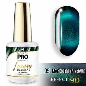 Luxury Gel Polish Color 95 Magnetic Emerald – Effect 9D 8ml