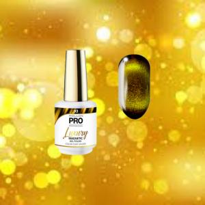 Luxury Gel Polish Color 93 Magnetic Gold – Effect 9D 8ml