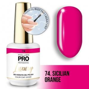 Luxury Gel Polish Color Coat 74 Sicilian Orange 8ml