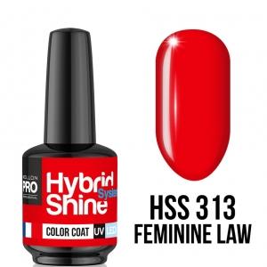 Hybrid Shine System Color Coat 313 Feminine Law 8ml