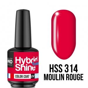 Hybrid Shine System Color Coat 314 Moulin Rouge 8ml