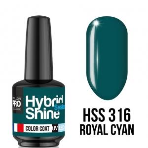 Hybrid Shine System Color Coat 316 Royal Cyan 8ml