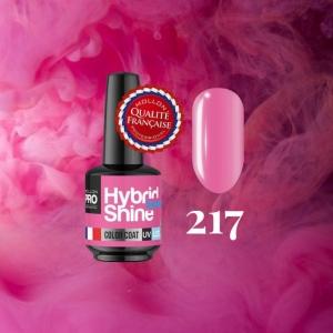Hybrid Shine System Color Coat 217 Pink Tulip 8ml
