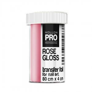 Transfer Foil Rose Gloss 4cm x 80cm