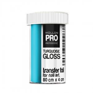 Transfer Foil Turquoise Gloss 4cm x 80cm
